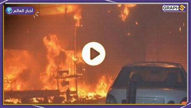 حريق ميناء عبدالله