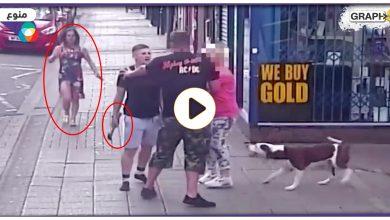 امرأتين تهاجمان رجل