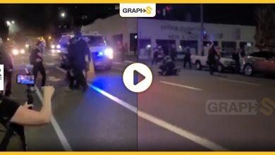 ضرب إحدى المتظاهرات