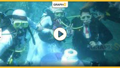 حفل زفاف مصري بأعماق البحر