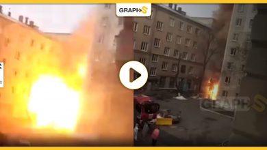 حريق ضخم في روسيا