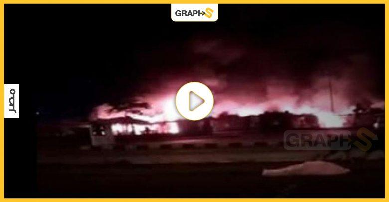 حريق ضخم في أحد أسواق مدينة نصر