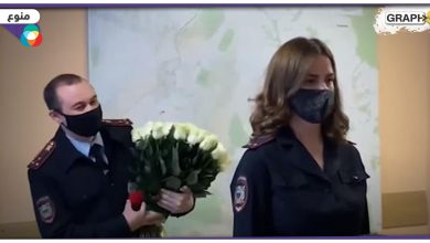 شرطية روسية حسناء