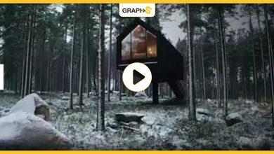 أكواخ خشبية معلقة فوق الأرض في فنلندا