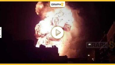 انفجار سيارة تحمل أسطوانات غاز