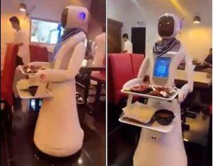 روبوتات تقدم الطعام في السعودية