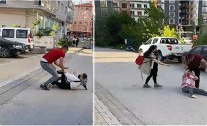 شجار عنيف بين شخص وزوجته