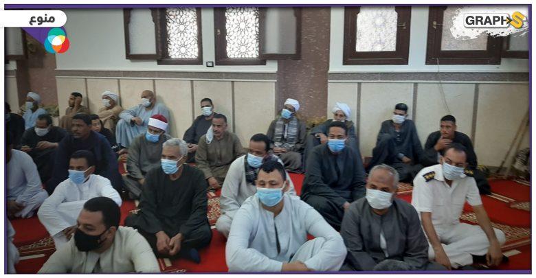 فرار مصلين من المسجد بمصر