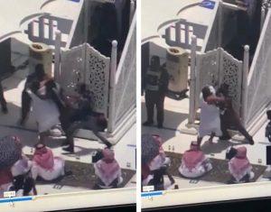 القبض على شخص حاول الاعتداء على خطيب الحرم المكي
