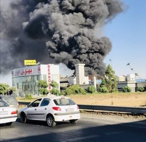 حريق هائل في إيران