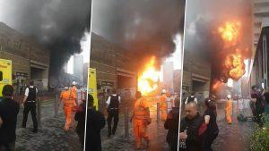 اندلاع حريق كبير في لندن