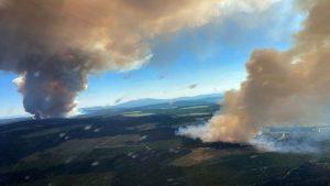 حرائق واسعة بسبب موجة الحر في كندا