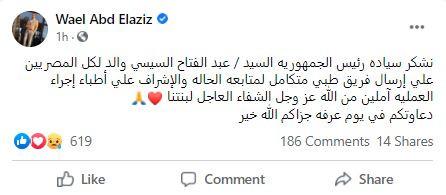 آخر تطورات الحالة الصحية لياسمين عبد العزيز