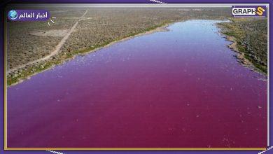 بحيرة أرجنتينية تثير الهلع