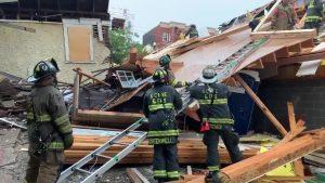 انهيار مبنى بولاية واشنطن