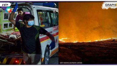 """""""أخبار العالم"""" حصيلة كارثية لقتلى تفجيري مطار كابول..حريق هائل على الحدود اللبنانية السورية.. إصابة 60 شخصا جراء انفجار ضخم في كازاخستان"""