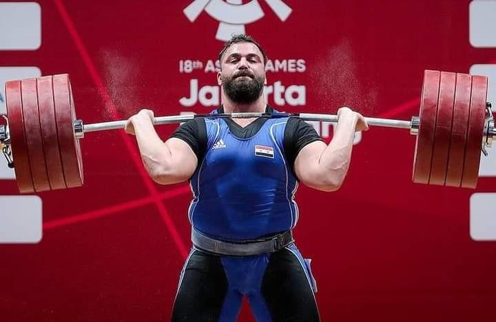 الرباع السوري معن أسعد يحقق الميدالية البرونزية في مسابقة وزن أكثر من 109 كيلوغرام للرجال