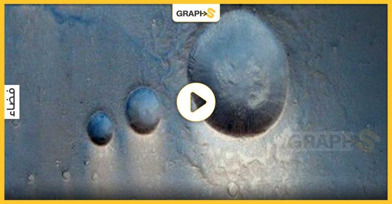 مشهد غريب على سطح المريخ