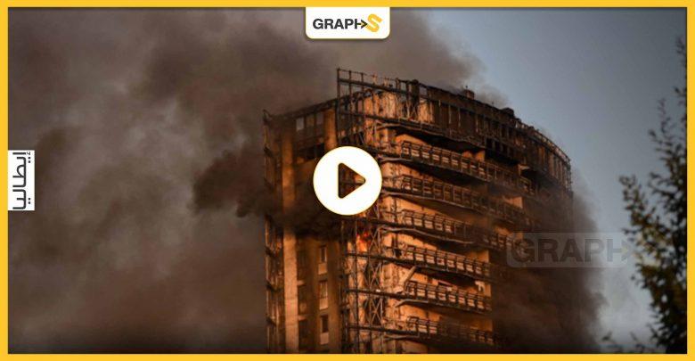 بالفيديو   حريق ضخم يلتهم برجاً في مدينة إيطالية ويسبب ذعر الأهالي وحالات إخلاء لآلاف الجيران له
