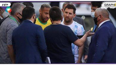 """في واقعة تاريخية.. إيقاف مباراة البرازيل والأرجنتين.. وميسي يرد بغضب """"العالم كله يتفرج علينا""""- (فيديو وصور)"""