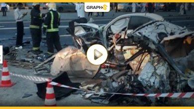بالفيديو|| في السعودية.. حادث مروع لتصادم سيارتين ولقطات موثقة تقشعر لها الأبدان