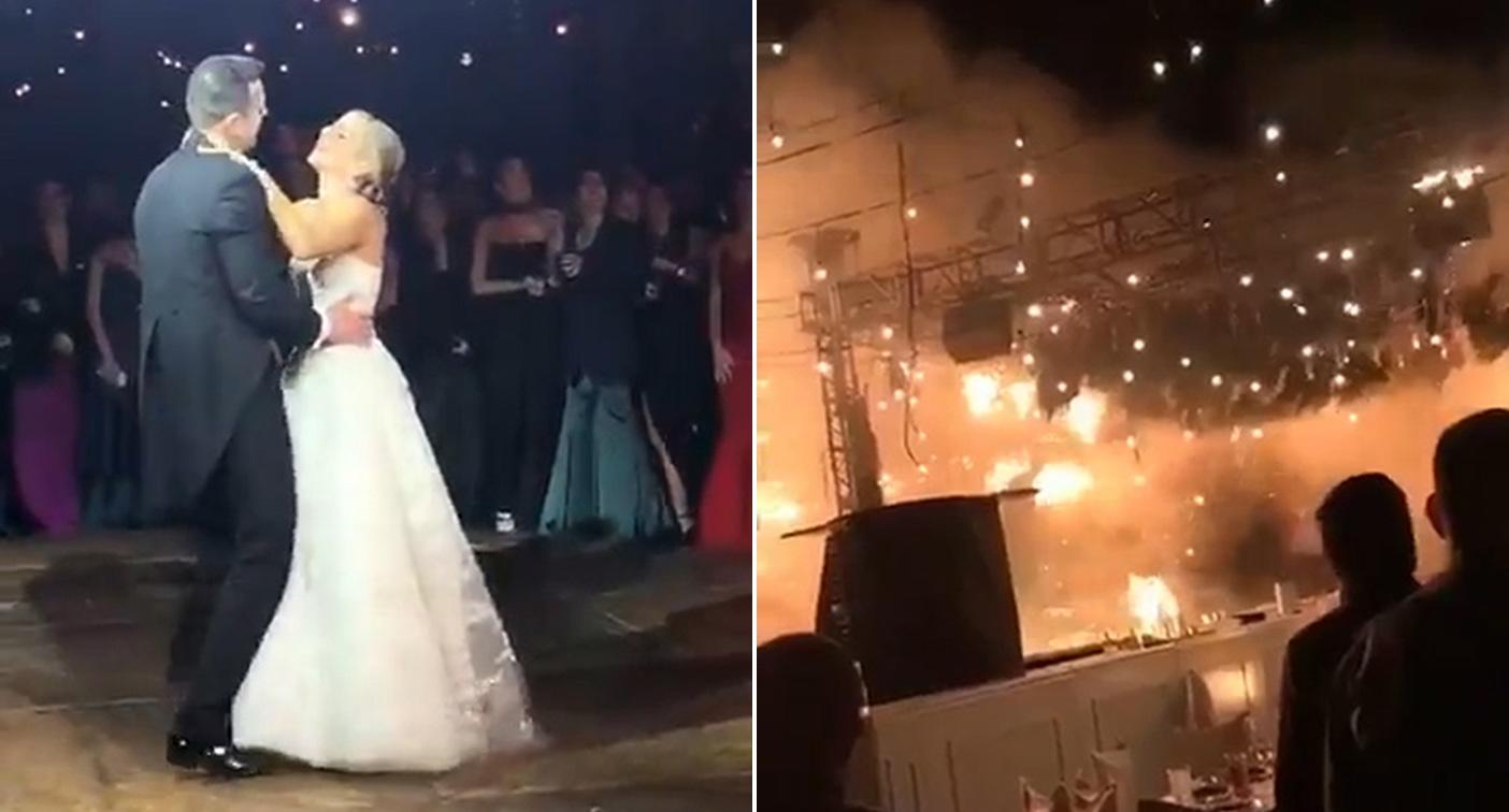 بالفيديو   رجل يتنكر بزي امرأة للحصول على البنزين في لبنان.. حريق هائل يحول حفل زفاف إلى كارثة في المكسيك
