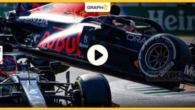 بالفيديو|| حادث خطير يتعرض له بطل العالم في الفورمولا 1 لويس هاملتون..نجا من الموت بأعجوبة