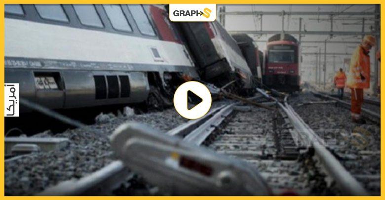 بالفيديو|| ضحايا ومصابين في حادث قطار بأمريكا والسلطات تفتح تحقيقا