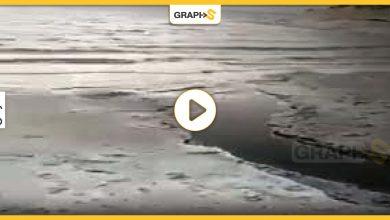 سائل أسود في البحر الميت