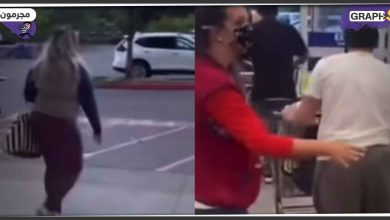 لصوص يسرقون أحد المتاجر بأمركيا