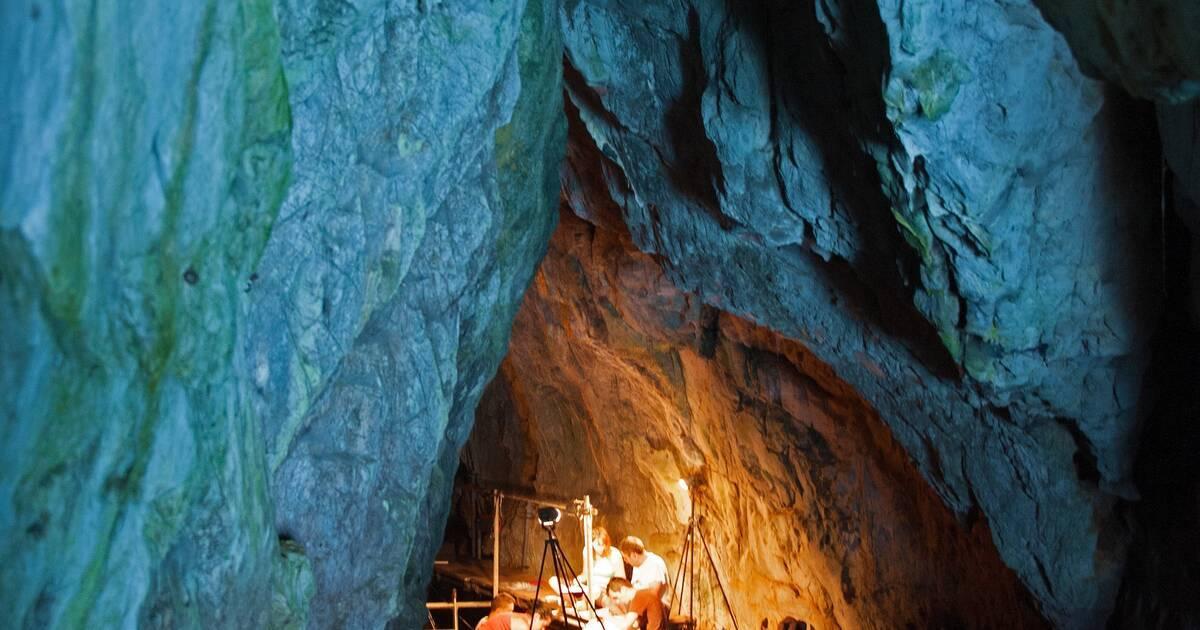 بالفيديو والصور   اكتشاف أثري عمره أكثر من 40 ألف عام داخل كهف بجبل طارق