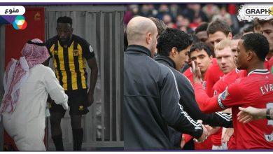 """نجمٌ سابق لفريق مانشستر يونايتد يكشف عن تعرضه """"لاعتداء لا أخلاقي"""".. وردُ فعلٍ مفاجئ وغريب لـ""""فهد المولد"""" بعد تبديله"""