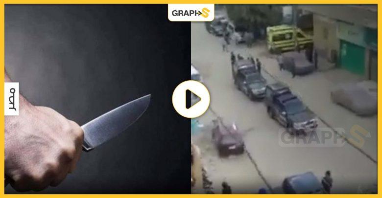 بالفيديو|| لحظة إرداء ضابطين في القوى الأمنية نتيجة اشتباكات في مصر..وشاب مصري ينهي حياة شقيق زوجته