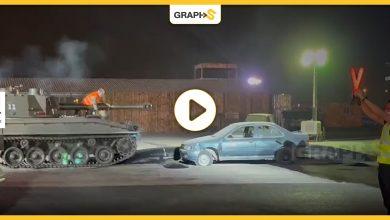 """تركي آل الشيخ يدهس سيارة وهو يقود دبابة ويعلق """"قدتها بنفسي"""""""