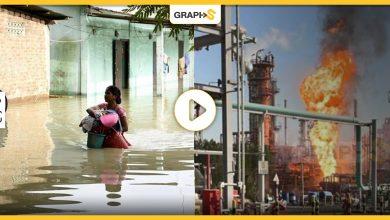 حريق مدمر في الكويت وضحايا بالعشرات في الهند نتيجة فيضانات كاسحة - فيديو وصور