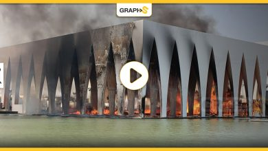 قبل انطلاقه بـ24 ساعة.. حريقٌ هائل يجتاح مركز افتتاح مهرجان الجونة