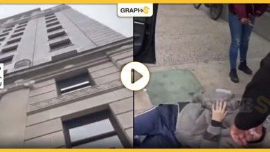 بالفيديو|| أمريكي يرمي نفسه من الطابق التاسع بهدف إنهاء حياته لكنه وقع على شيء لم يتوقعه ولم يمت